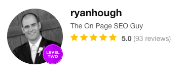 Ryan Hough On Page SEO Guy Fiverr 93 5 Star Reviews