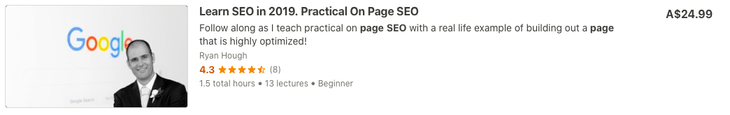 Learn SEO on Udemy Ryan Hough The On Page SEO Guy